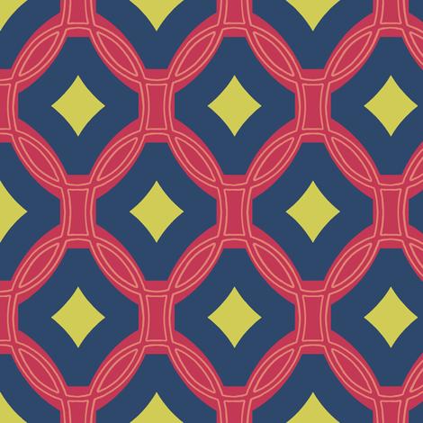 diamonds and rings - matisse fabric by weavingmajor on Spoonflower - custom fabric