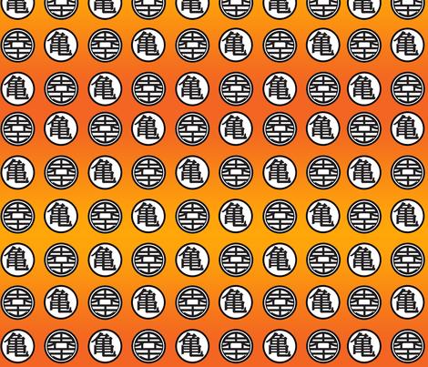 DBZ Turtle & World King Pattern fabric by jamiekoala on Spoonflower - custom fabric