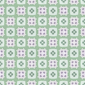Green and Purple Checks and Spots