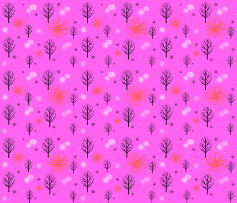 Winter Forests in Pink fabric by forestwooddesigns on Spoonflower - custom fabric