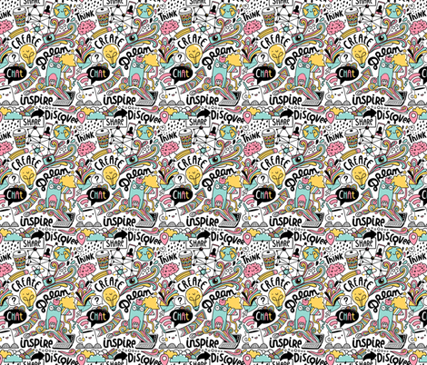 doodle web fabric by kostolom3000 on Spoonflower - custom fabric
