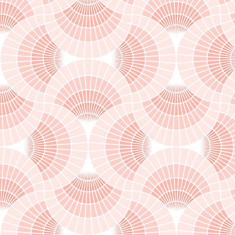 scale 4gX grid : coral fabric by sef on Spoonflower - custom fabric