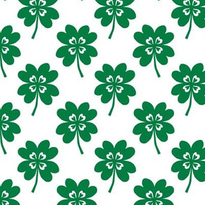 lucky clover four leaf clover st patricks day cute kids green and white