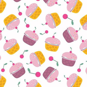 Tasty Cherry Cupcakes Pattern