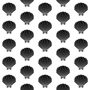 seashell beach seashell vintage retro black and white kids nursery baby design