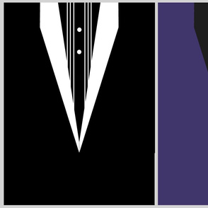Tuxedo black and purple