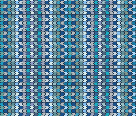 Blue Chevron Pattern fabric by ksanask on Spoonflower - custom fabric