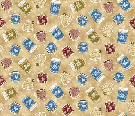 Cozy Knitting: Macchiato fabric by mia_valdez on Spoonflower - custom fabric