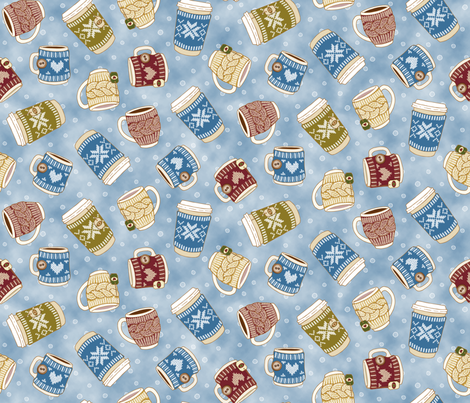 Cosy Mugs fabric by mia_valdez on Spoonflower - custom fabric