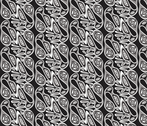Birds_grey_black fabric by malolo on Spoonflower - custom fabric