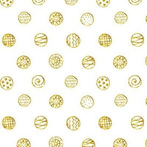 Gold Dots: White