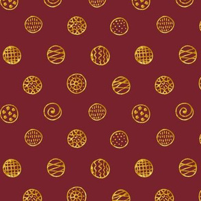Gold Dots: Red Wine