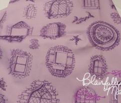 Purple Window Toile