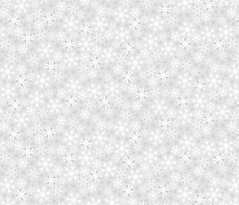 Silver Snow (Dark) fabric by robyriker on Spoonflower - custom fabric