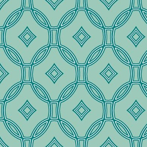 diamond lattice in teal