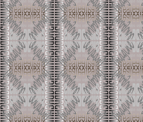 DICIS Mirrored (Rose Toned) fabric by esheepdesigns on Spoonflower - custom fabric