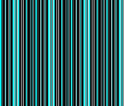black white and aqua blue barcode stripes fabric by on spoonflower custom