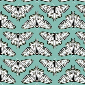 luna moth // blue moth white butterfly sweet pastel spring girls print