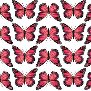 monarch butterfly // pink girls pastel girls butterflies flowers spring