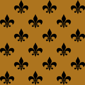 Black Fleur-de-lis on Matte Antique Gold