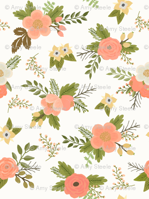 Sweet Bouquets in Coral