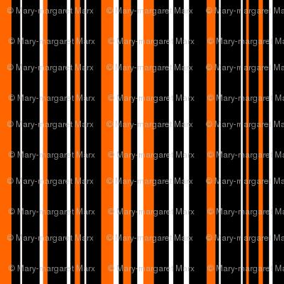 Black, Orange, and White Barcode Stripes
