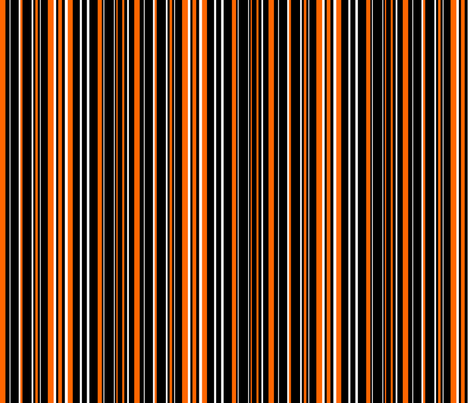 Black, Orange, and White Barcode Stripes fabric by mtothefifthpower on Spoonflower - custom fabric