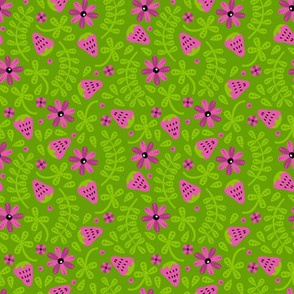 Strawberry Toss (Green and Pink)