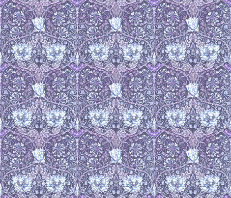 Morris tulip violet fabric by keweenawchris on Spoonflower - custom fabric