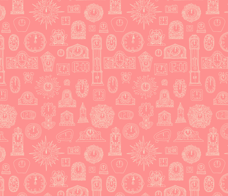 Cinderella's Curfew fabric by seesawboomerang on Spoonflower - custom fabric