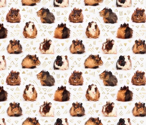 Lots of Little Guinea Pigs fabric by micklyn on Spoonflower - custom fabric