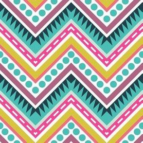 Zigzag Geometric Colorful Pattern