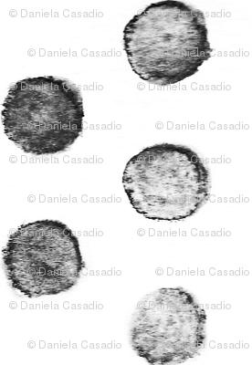Hand Painted Polka Dot - grey - small