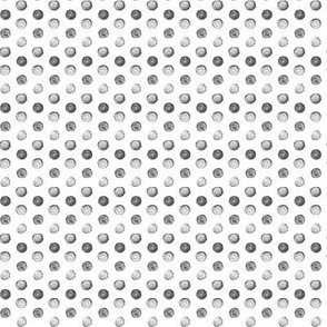 Hand Painted Polka Dot - grey - small