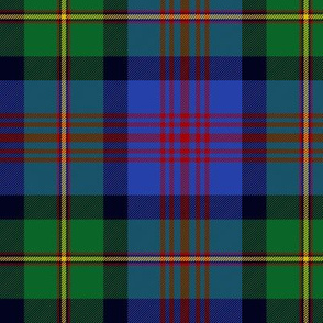 "Logan or MacLennan tartan, traditional 5-stripe, 6"" bright"