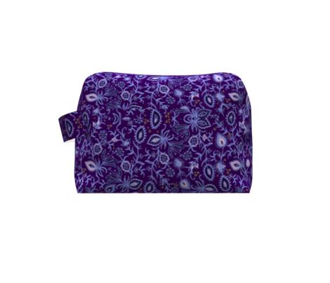 Secret garden, violet flowers