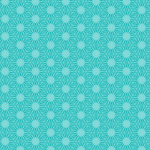 Turquoise Floral by Friztin