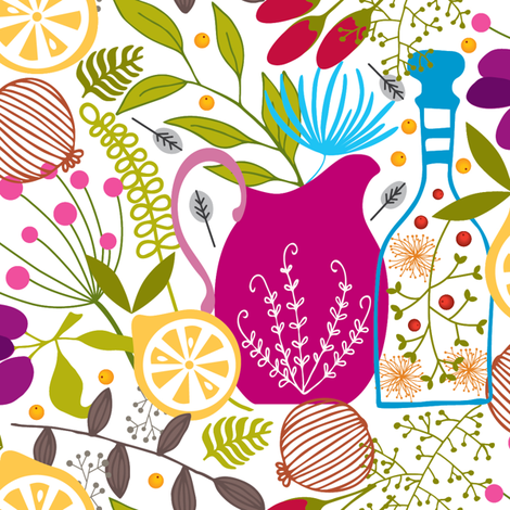 Kitchen Crazy  fabric by plum_studio on Spoonflower - custom fabric