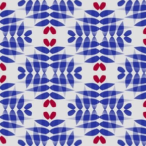 Damascus (Red and Blue on Bone)