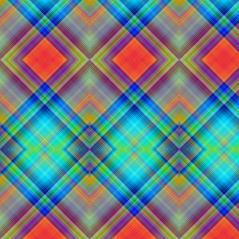 MICE MOUSE DIAGONAL PLAID BRIGHT HARMONY fabric by paysmage on Spoonflower - custom fabric