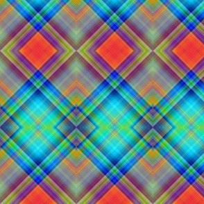 MICE MOUSE DIAGONAL PLAID BRIGHT HARMONY