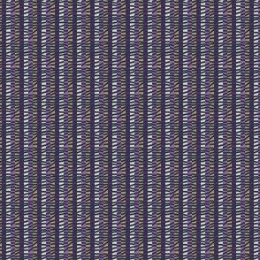 Autumn Plum Tumbledown Stripe