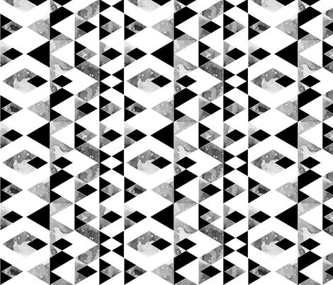 geo mountain black on white rotated fabric by igotstripes_studio on Spoonflower - custom fabric