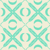 Feather Lattice - mint