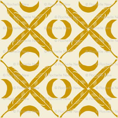 Feather Lattice - mustard