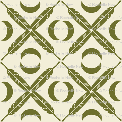 Feather Lattice - olive