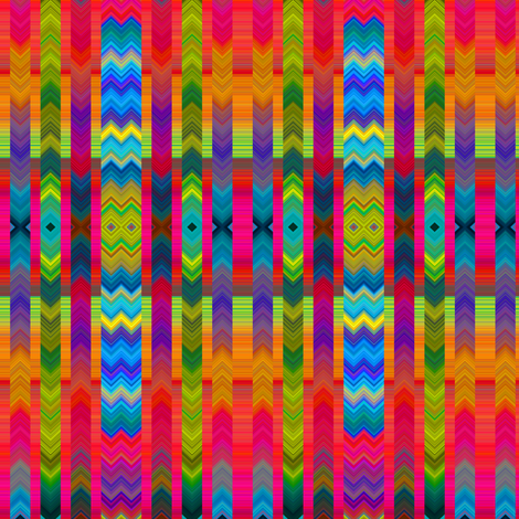 CHEVRONS ETHNIC TOTEM 4 AZTEC fabric by paysmage on Spoonflower - custom fabric