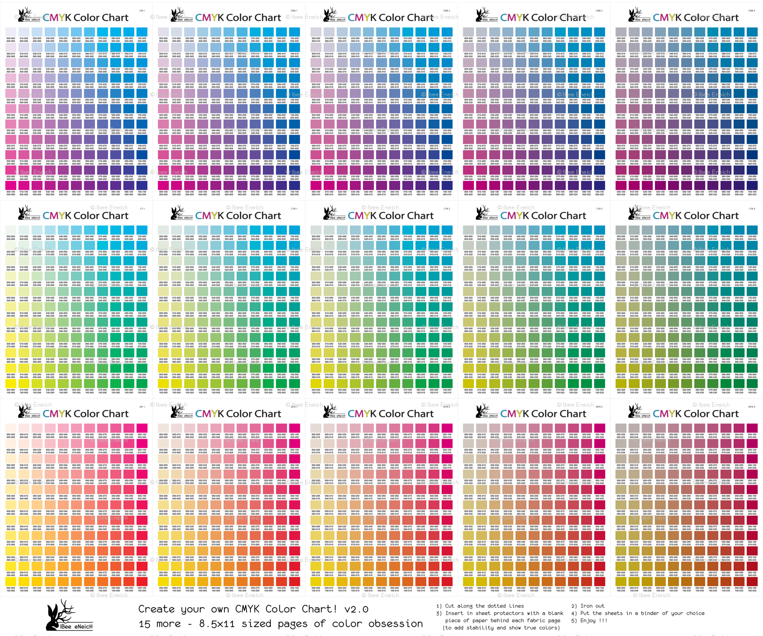 Cmyk Color Chart Part 20 1815 More Colors Wallpaper