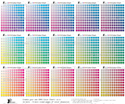 Cmyk Color Chart Part 20 1815 More Colors Giftwrap Ibeeeneich