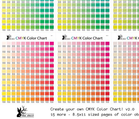 Cmyk Color Chart Part 2.0 - 1815 More Colors! Fabric - Ibee_Eneich